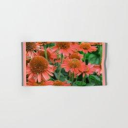 Coral Echinacea Garden Flowers Hand & Bath Towel