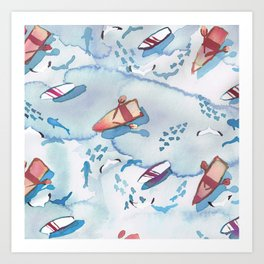 Shallow Water Art Print
