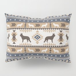 Boho dogs | German shepherd pattern tan Pillow Sham