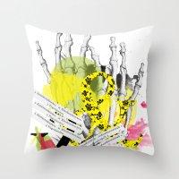 howl Throw Pillows featuring Howl  by Stephanie Trevania