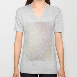 Abstract summer blush pink yellow whey pattern Unisex V-Neck