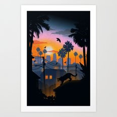 Suburban Jungle Art Print