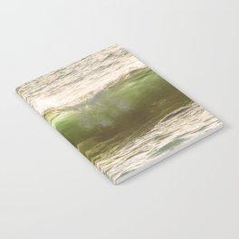 Green light water surf Notebook