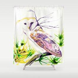 Owl Furze Wisdom  Shower Curtain