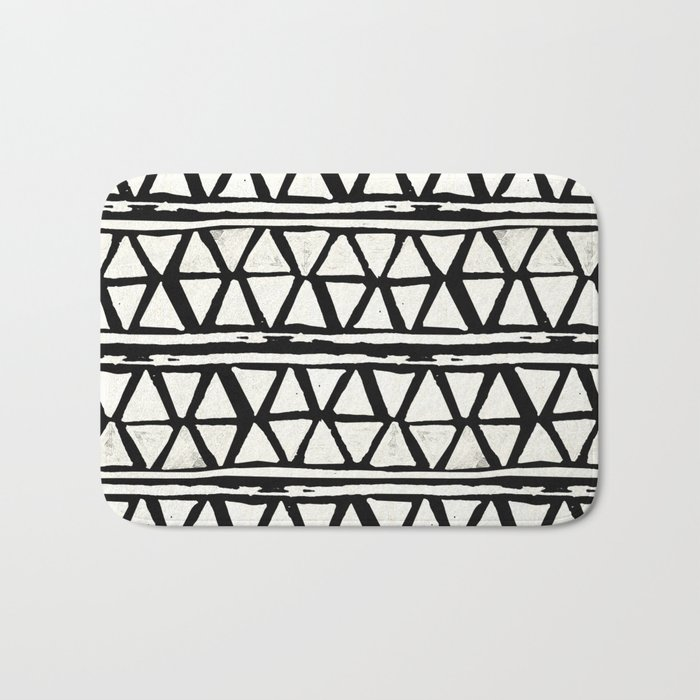 Tribal Geometric Band Bath Mat