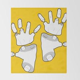 Puzzle Hands Throw Blanket