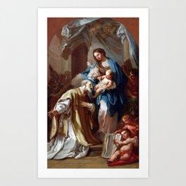 Sebastiano Conca The Madonna Appearing to St. Philip Neri Art Print