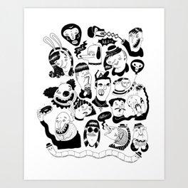 Bunch of Dudes Art Print