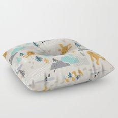 Sasquatch Stomp Floor Pillow