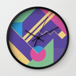 RETROMETRIA VIOLET Wall Clock