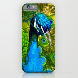 Weird Eyes Peacock iPhone Case