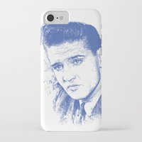 elvis presley iPhone & iPod Cases featuring Elvis Presley by Chadlonius