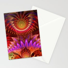 Devious ways, colourful pattern abstract Stationery Cards