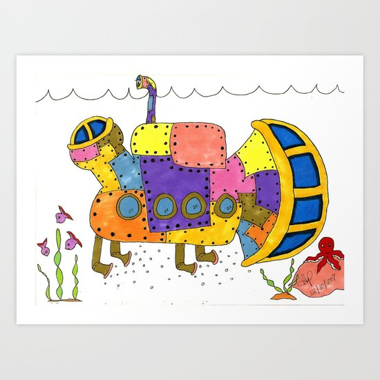 """Submarine I"" Art Print"