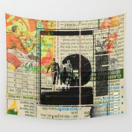 Rauschenberg Rumble (for Hip Kidds) Wall Tapestry