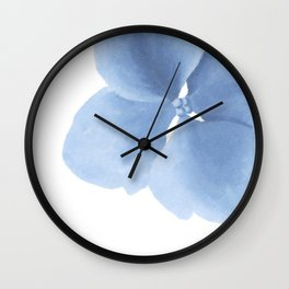 Pansy Flower. Big blue flower Wall Clock