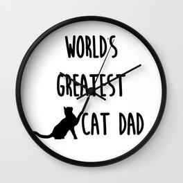 World's Greatest Cat Dad Wall Clock