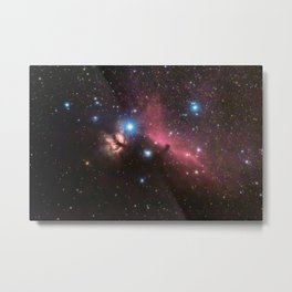 Horsehead and flaming tree nebula, in the constellation of Orion, Milky Way Metal Print