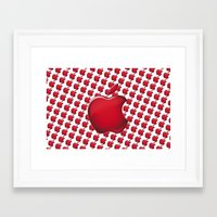 apple Framed Art Prints featuring Apple by JT Digital Art