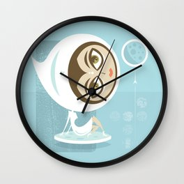 Rocket Girl Wall Clock