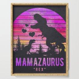Mamasaurus Dinosaur T Rex, Mom Gift Mama, Mum, Mother Serving Tray