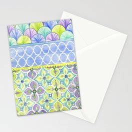 Watercolor Pattern  Stationery Cards