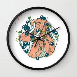 Ravioli with mushrooms Wall Clock