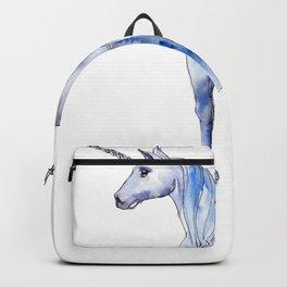 Watercolor Unicorn White Unicorn Illustration Backpack
