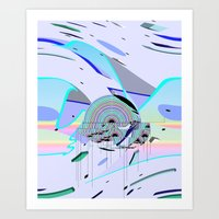 rainbow platform Art Print