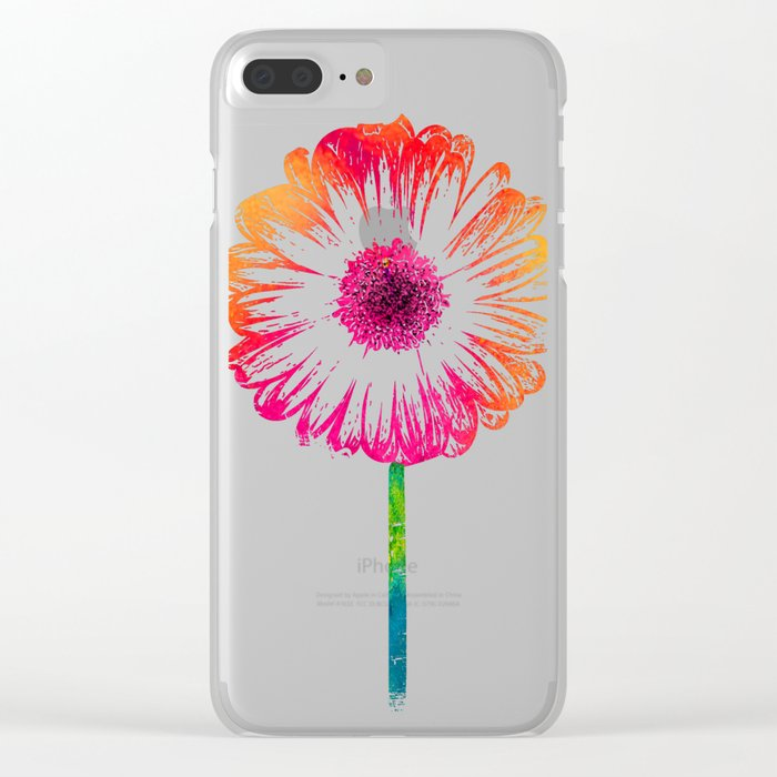 Gerbera flower Clear iPhone Case