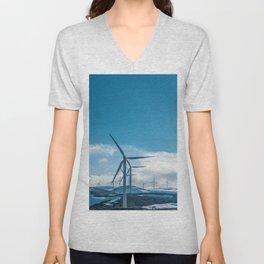 The Wind Farm (Color) Unisex V-Neck