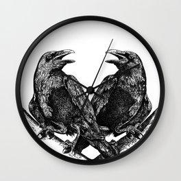 Odins Ravens Huginn and Muninn Wall Clock
