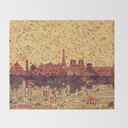 Paris skyline  Throw Blanket