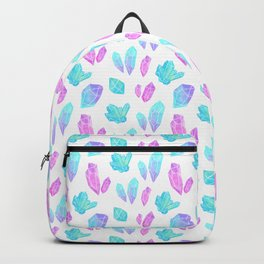 Pastel Watercolor Crystals Backpack