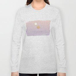 Minimalistic Tatooine Sunset Long Sleeve T-shirt