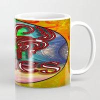 zodiac Mugs featuring Aries Zodiac by CAP Artwork & Design
