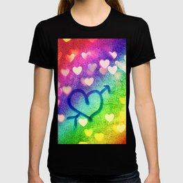 Graffiti Hearts  T-shirt