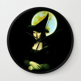 Mona Lisa Witchy Woman Wall Clock