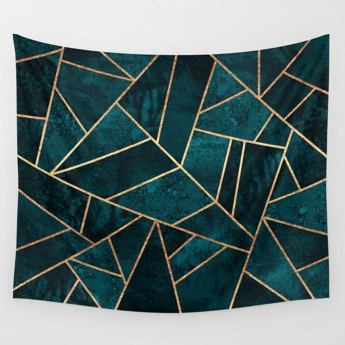 Deep Teal Stone Wandbehang