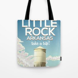 Little Rock Arkansas Vintage travel poster Tote Bag