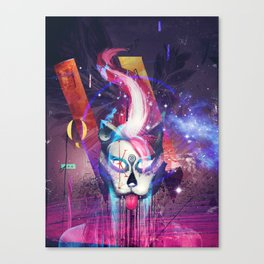 Masquerade Kitty Canvas Print