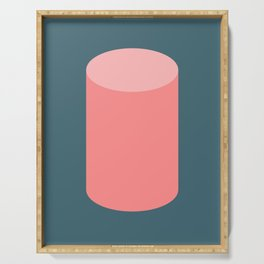 Cylinder Blue Pink Serving Tray