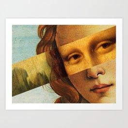 Leonardo's Mona Lisa & Botticelli's Venus Art Print