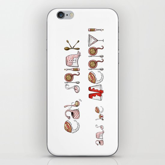 Eat Drink and be Merry! iPhone & iPod Skin