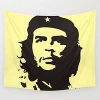 che Wall Tapestries featuring Che Guevara  by panamashirt