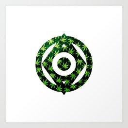 Pot Leaves Art Print
