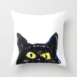 Devil eyes Throw Pillow