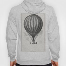 The Vauxhall balloon from a system of aeronautics (1850) by John Wise (1808-1879) Hoody