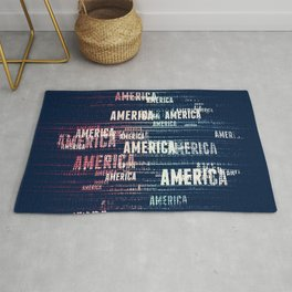 America Typographic Design Rug