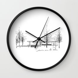 The Barcelona Pavilion -  Ludwig Mies van der Rohe Wall Clock